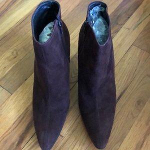 VTG YSL Brown Stiletto Booties 8.5